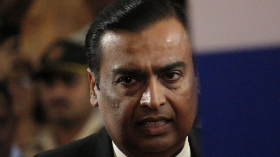 Chairman and Managing Director of Reliance Industries Mukesh Ambani.