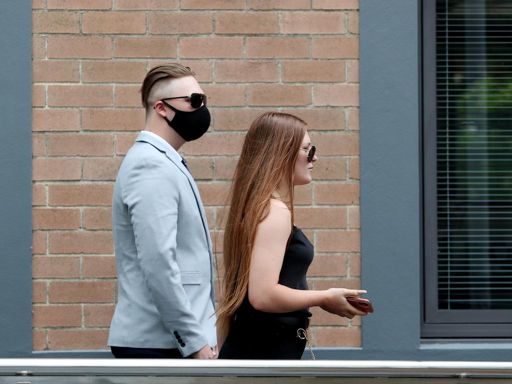 Jason Wells pictured leaving Wyong Court in January 2021. Picture: Sue Graham