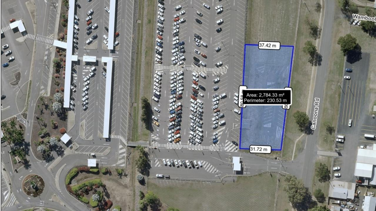 The commercial opportunity site from the tender at Rockhampton Airport.