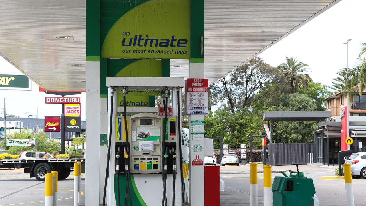 Fuel prices are exected to hit record prices in the coming weeks, with drivers encouraged to fill up now. Picture: Gaye Gerard/NCA NewsWire